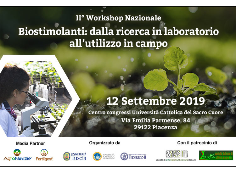 II° workshop nazionale sui biostimolanti